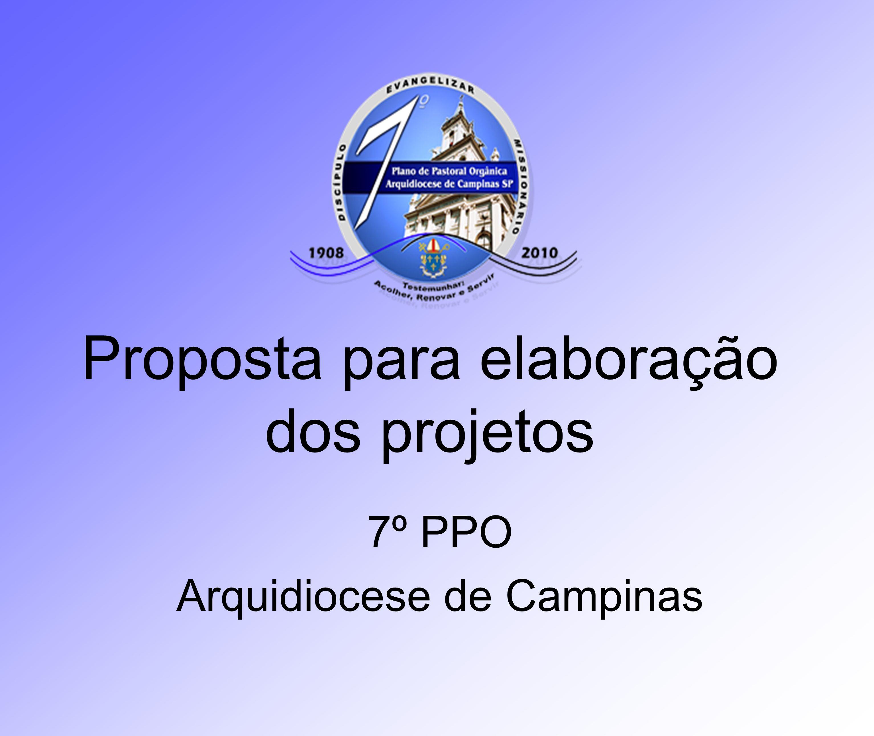 Proposta para elaboração dos projetos