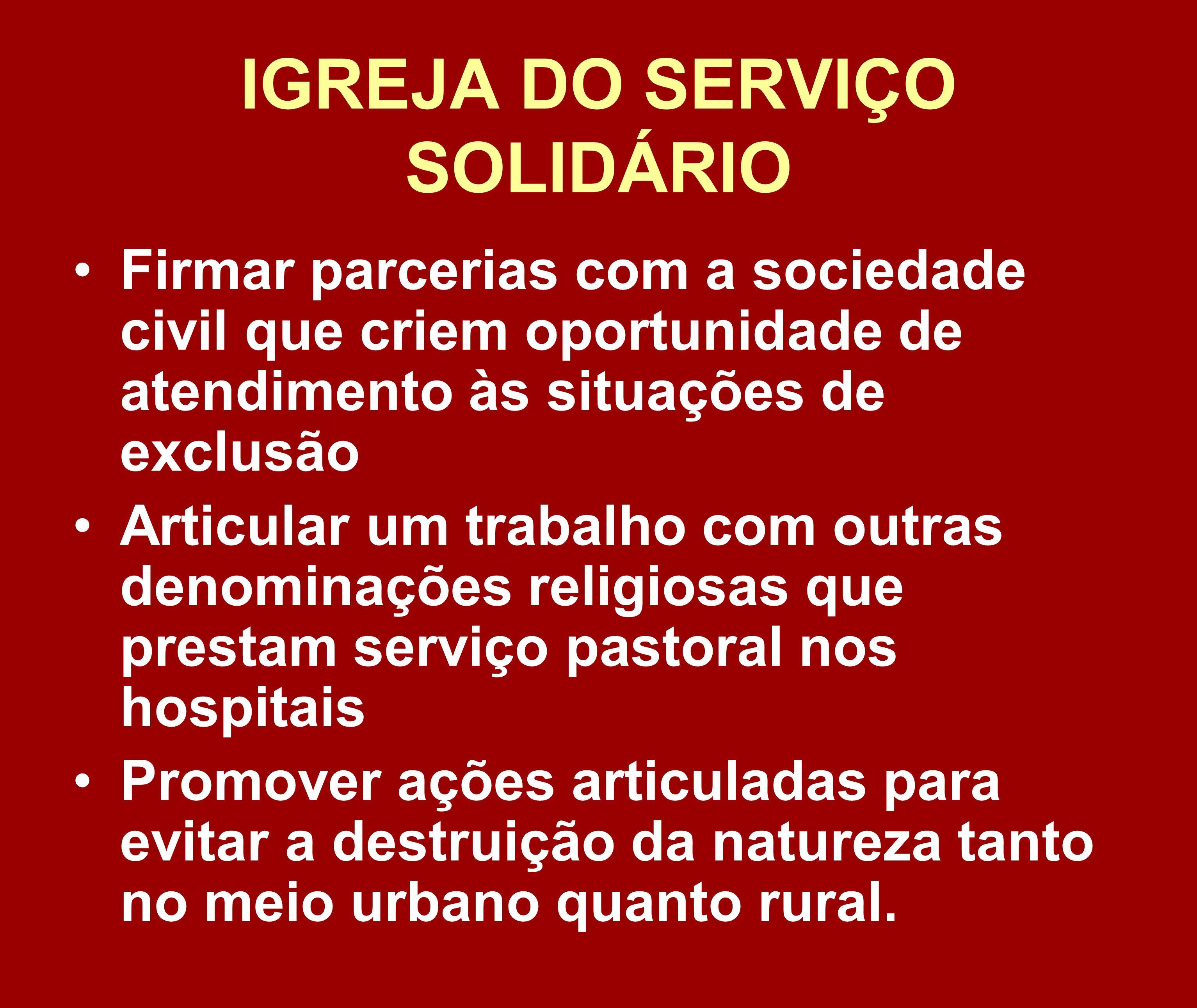 IGREJA DO SERVIÇO SOLIDÁRIO