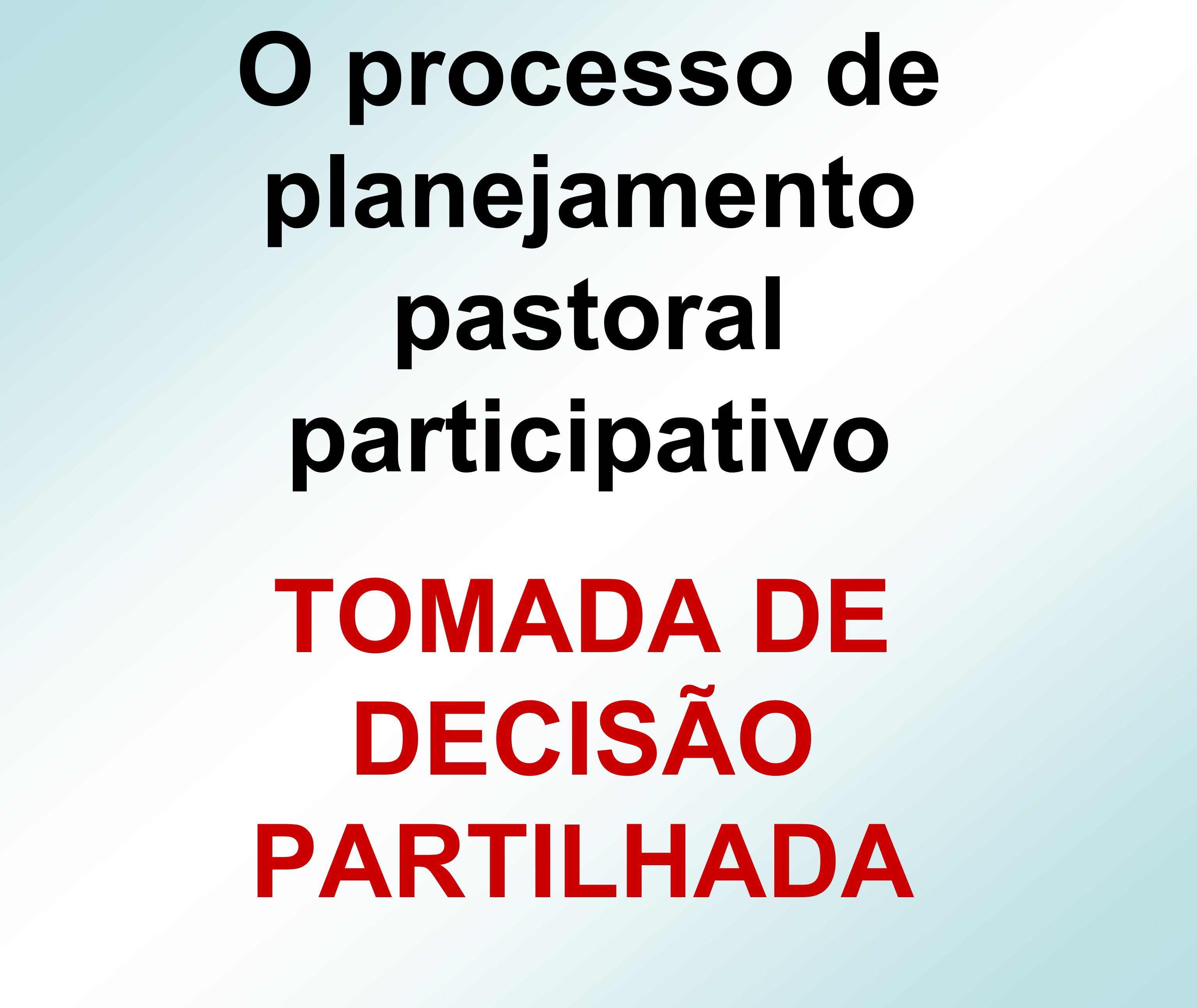 O processo de planejamento pastoral participativo