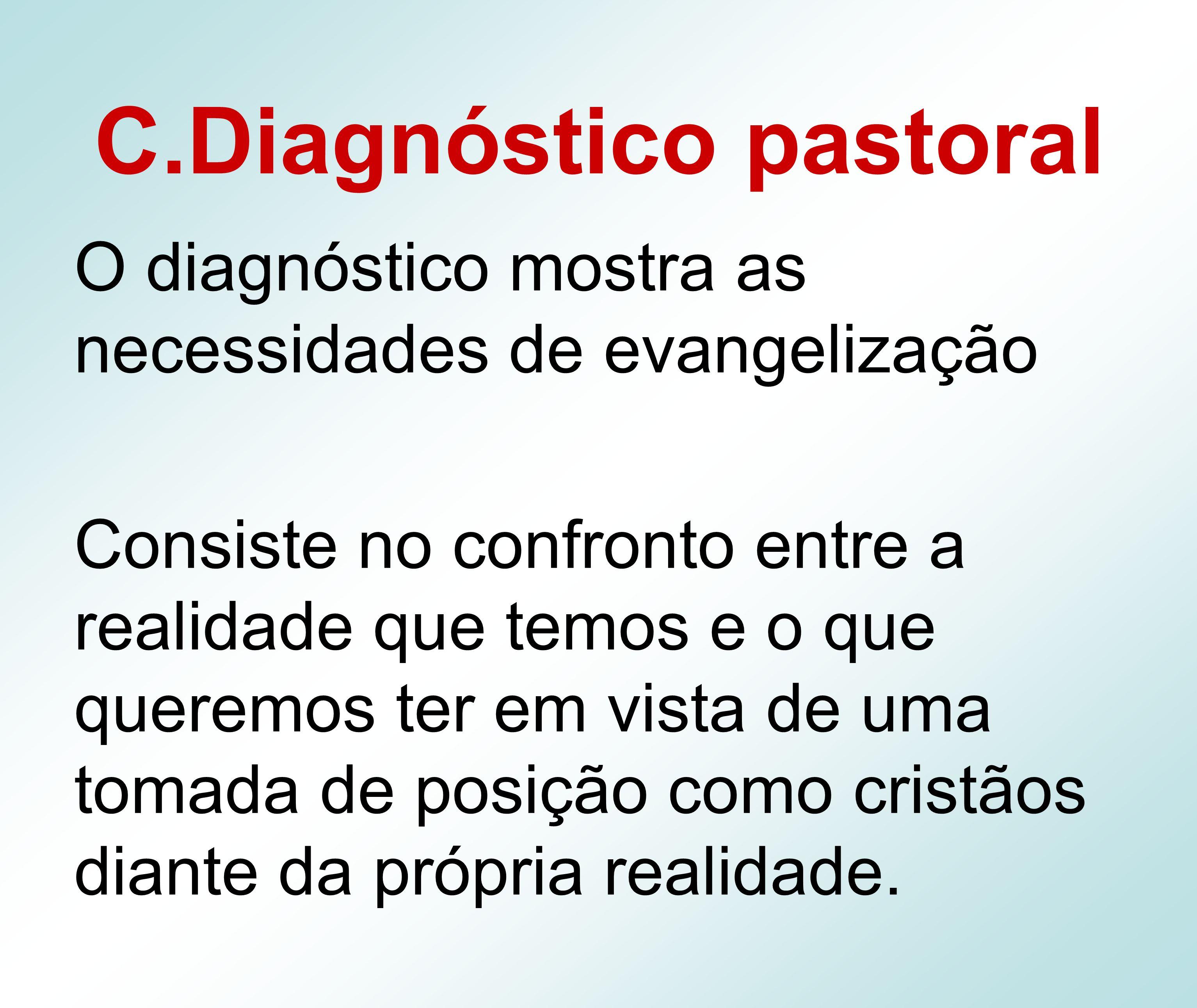 C.Diagnóstico pastoral