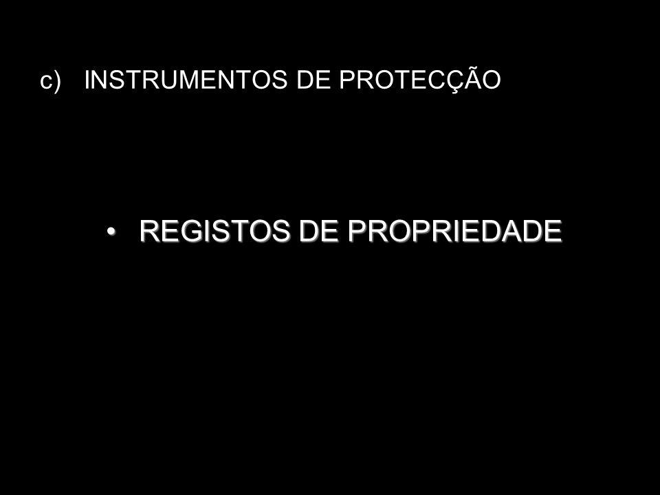 REGISTOS DE PROPRIEDADE