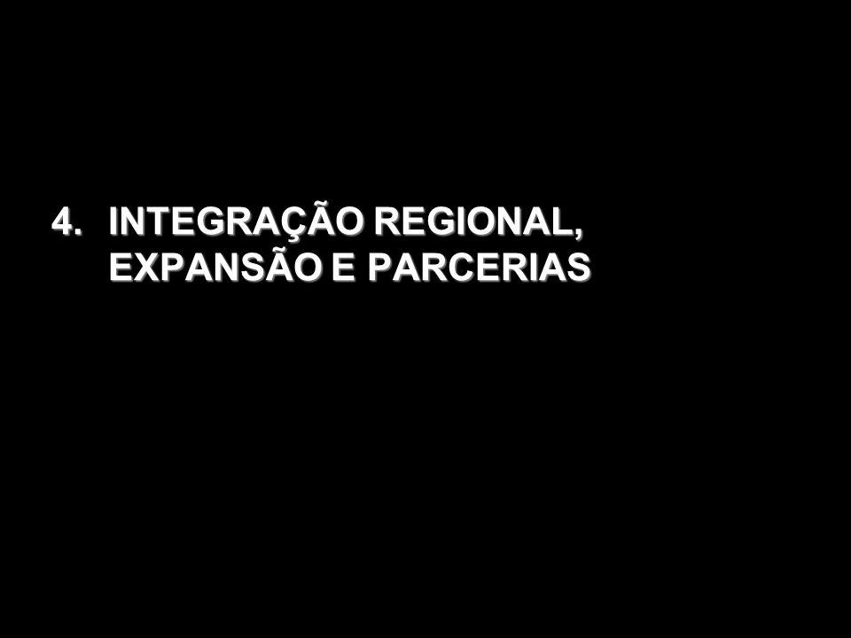 INTEGRAÇÃO REGIONAL, EXPANSÃO E PARCERIAS