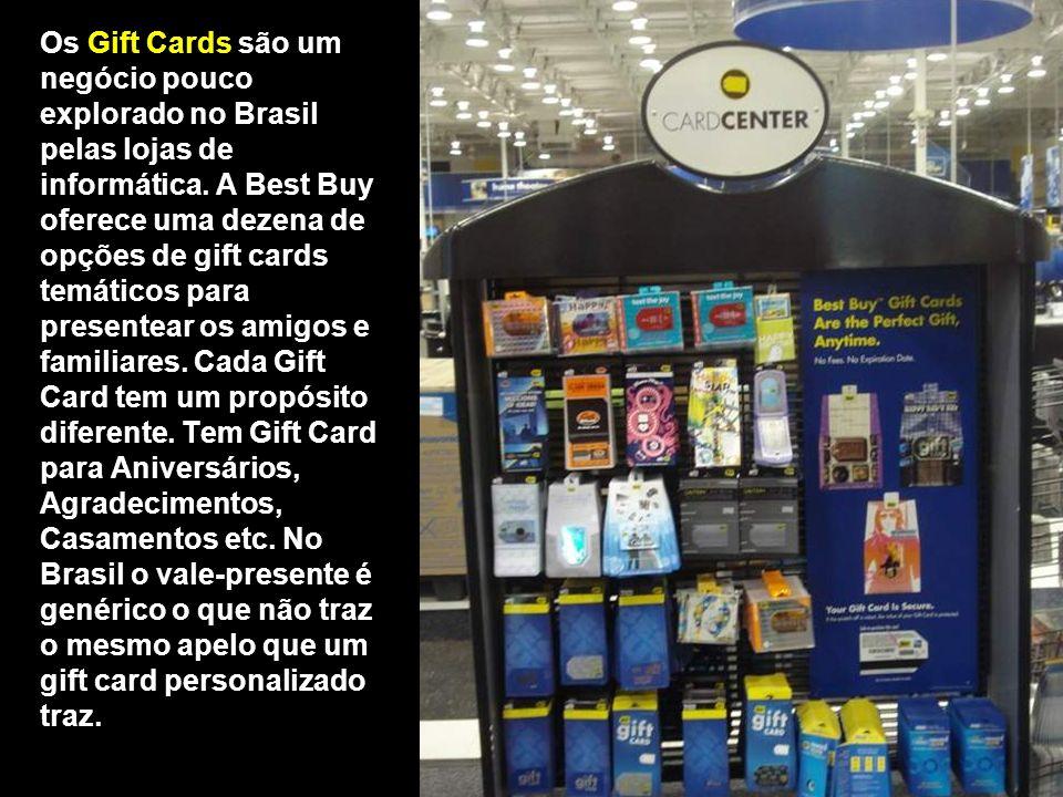 Os Gift Cards são um negócio pouco explorado no Brasil pelas lojas de informática.