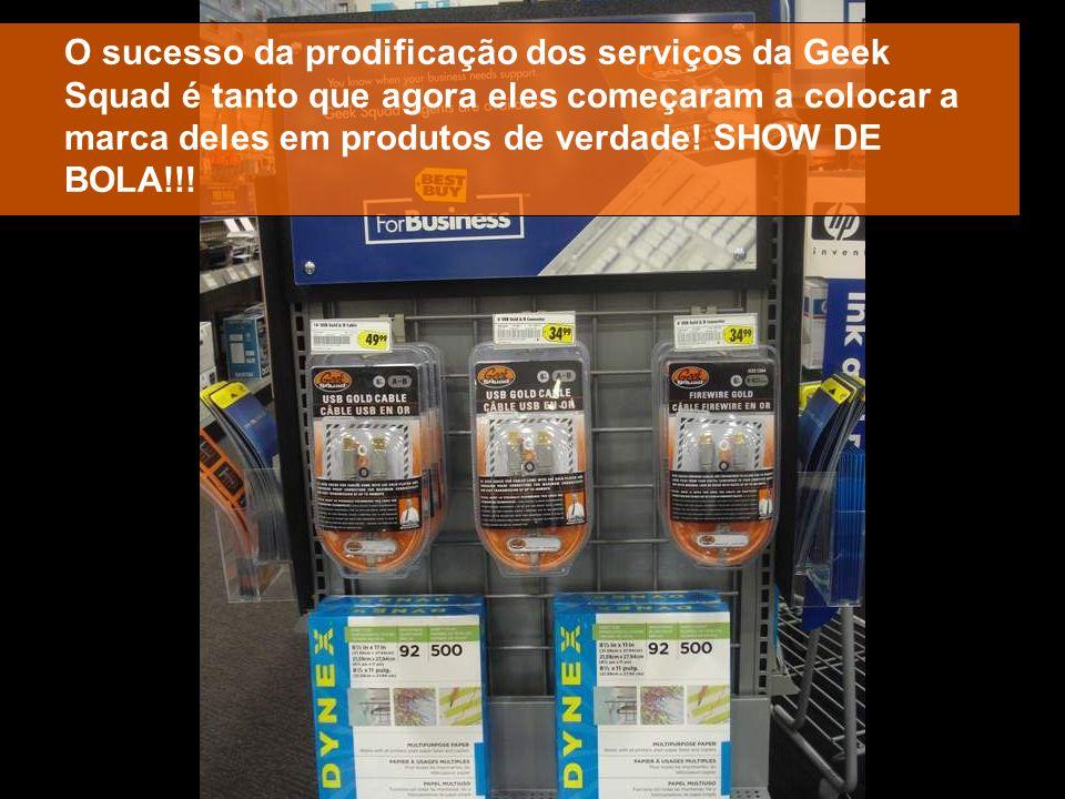 O sucesso da prodificação dos serviços da Geek Squad é tanto que agora eles começaram a colocar a marca deles em produtos de verdade.