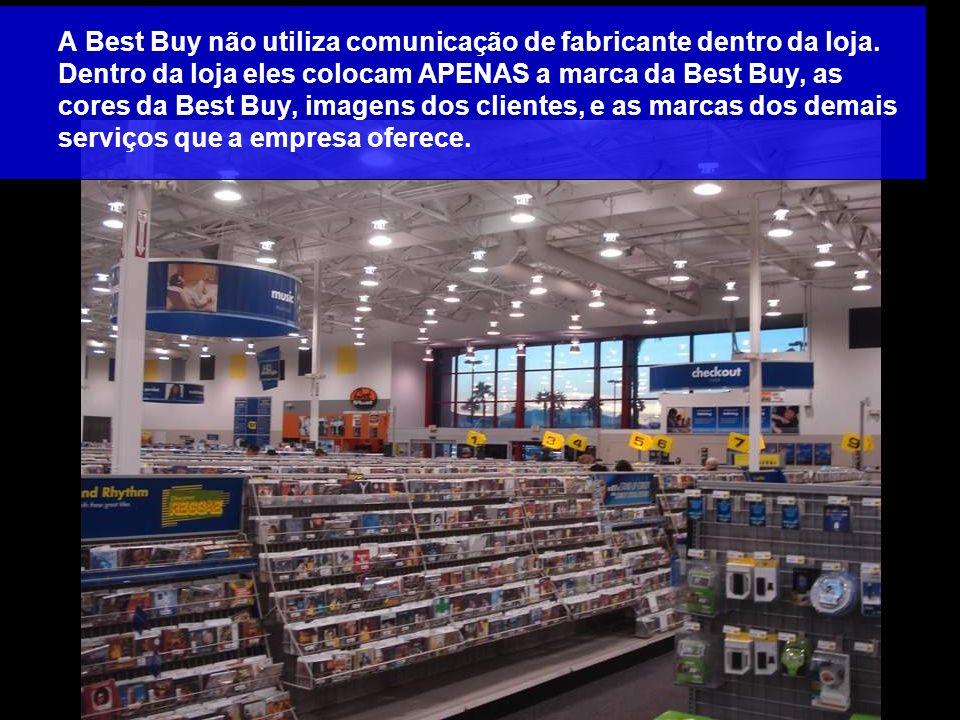 A Best Buy não utiliza comunicação de fabricante dentro da loja