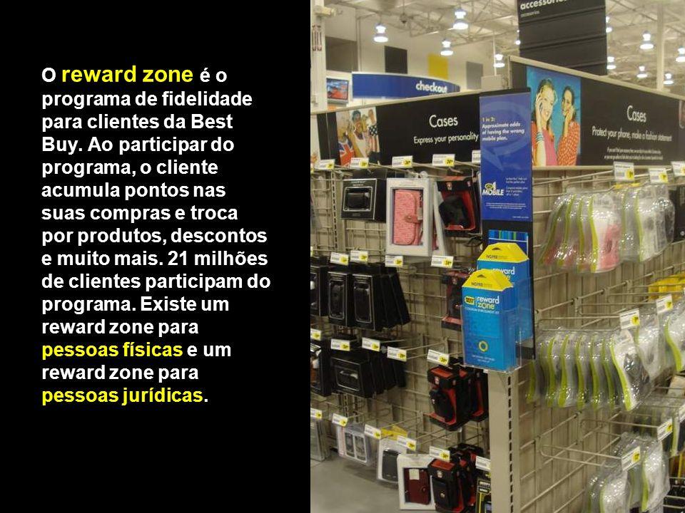 O reward zone é o programa de fidelidade para clientes da Best Buy