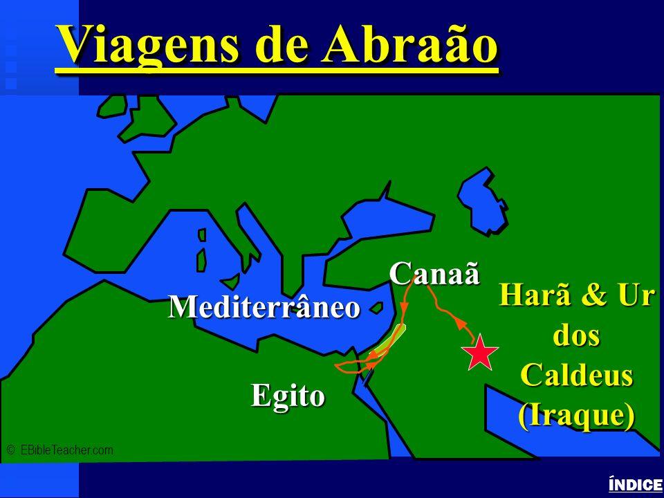 Viagens de Abraão Canaã Harã & Ur dos Caldeus Mediterrâneo (Iraque)