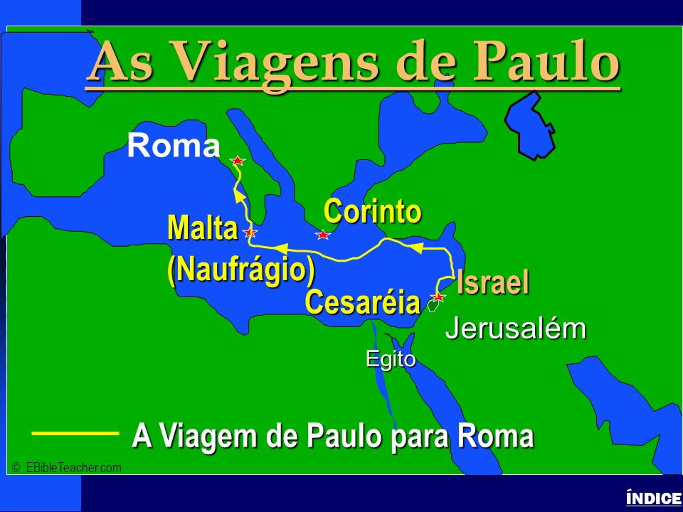 As Viagens de Paulo Click to add text Israel