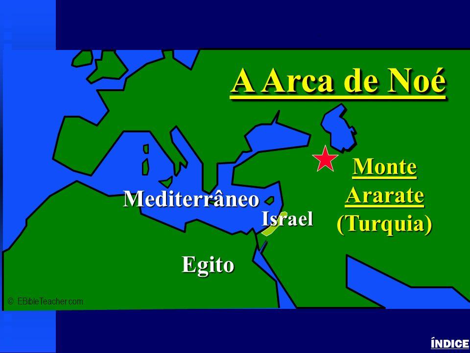 A Arca de Noé Monte Ararate (Turquia) Mediterrâneo Egito Israel ÍNDICE