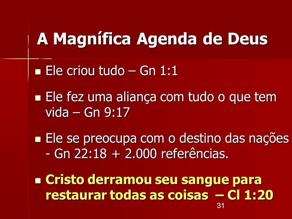 A Magnífica Agenda de Deus