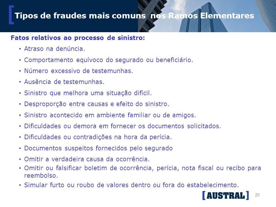Tipos de fraudes mais comuns nos Ramos Elementares