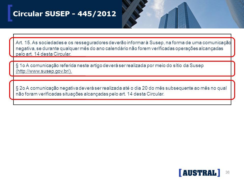 Circular SUSEP - 445/2012
