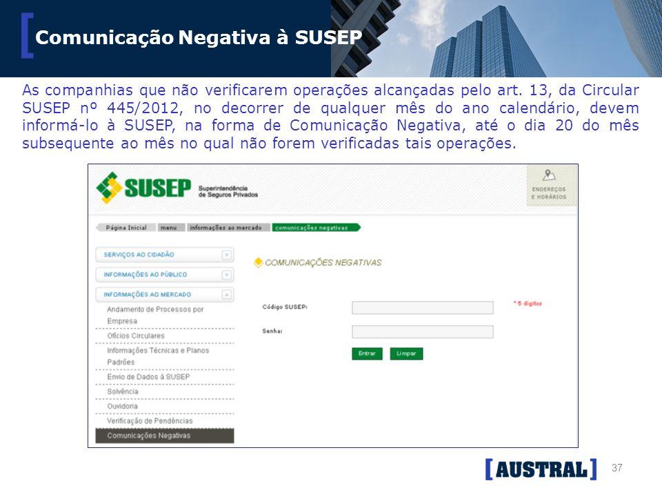 Comunicação Negativa à SUSEP