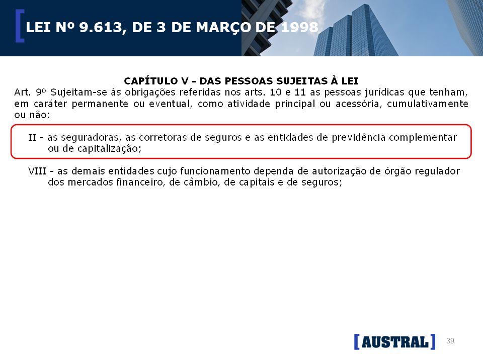 LEI Nº 9.613, DE 3 DE MARÇO DE 1998