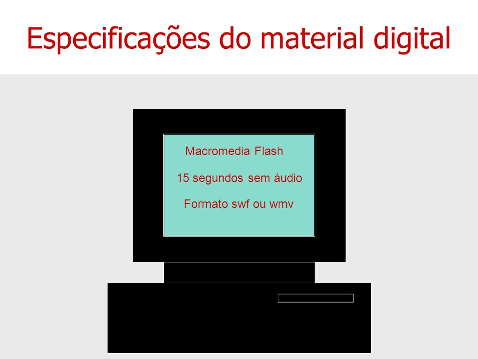 Especificações do material digital
