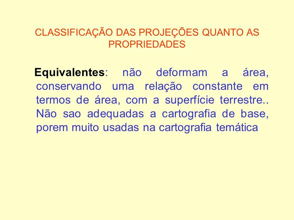 CLASSIFICAÇÃO DAS PROJEÇÕES QUANTO AS PROPRIEDADES