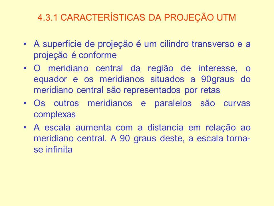 4.3.1 CARACTERÍSTICAS DA PROJEÇÃO UTM