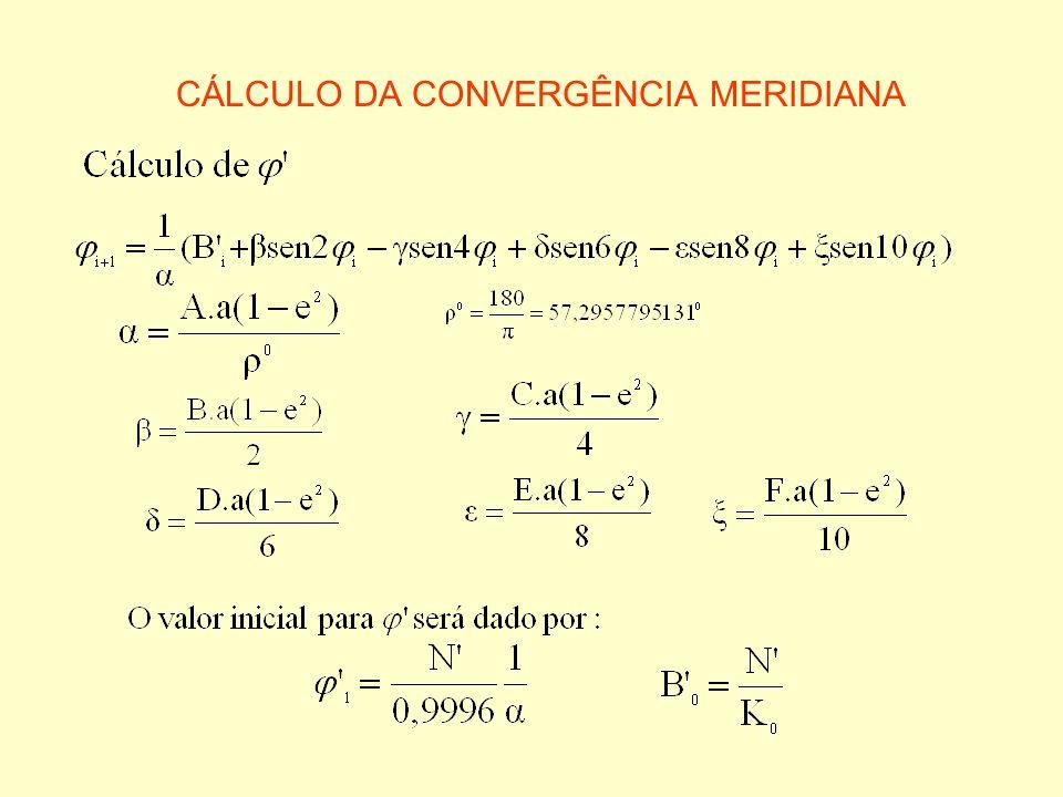 CÁLCULO DA CONVERGÊNCIA MERIDIANA