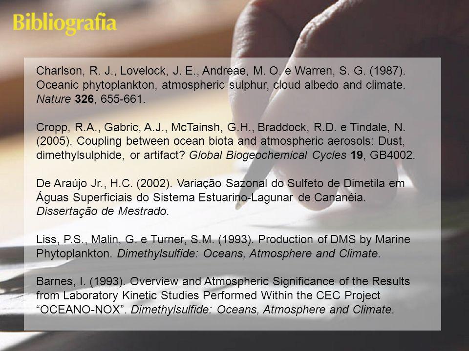 Charlson, R. J. , Lovelock, J. E. , Andreae, M. O. e Warren, S. G