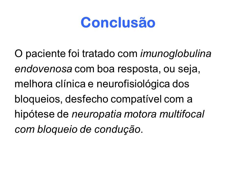 Conclusão O paciente foi tratado com imunoglobulina