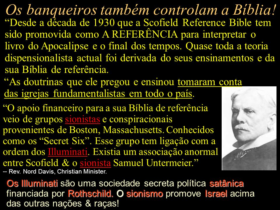 Os banqueiros também controlam a Bíblia!