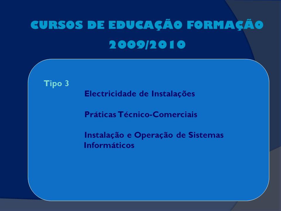 CURSOS DE EDUCAÇÃO FORMAÇÃO