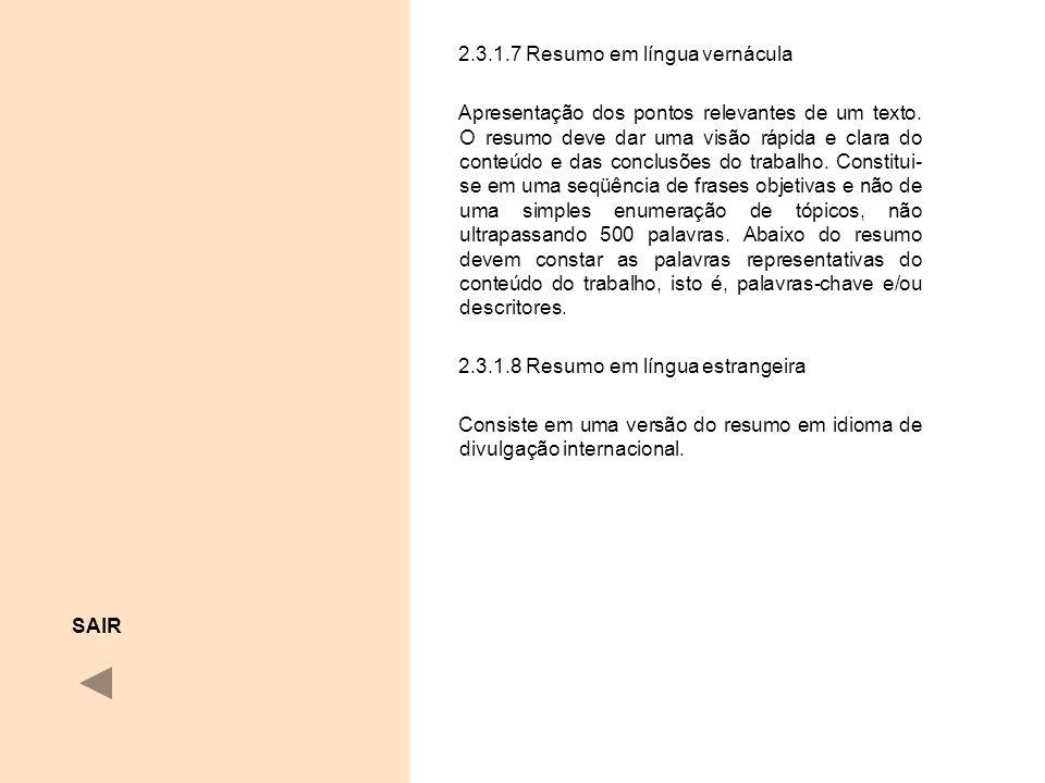 2.3.1.7 Resumo em língua vernácula