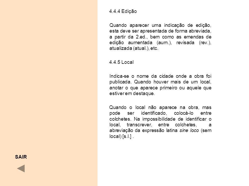 4.4.4 Edição