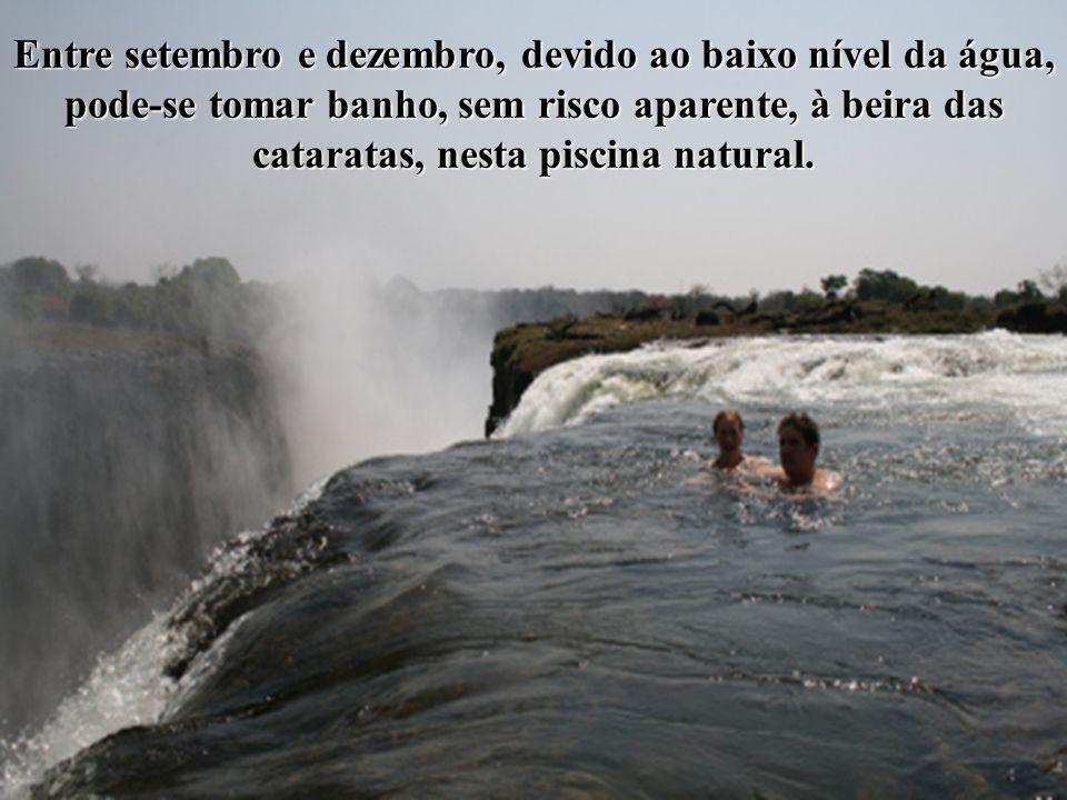 Entre setembro e dezembro, devido ao baixo nível da água,