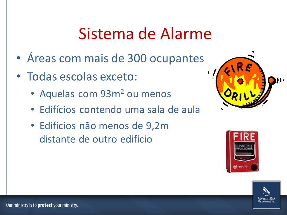 Sistema de Alarme Áreas com mais de 300 ocupantes