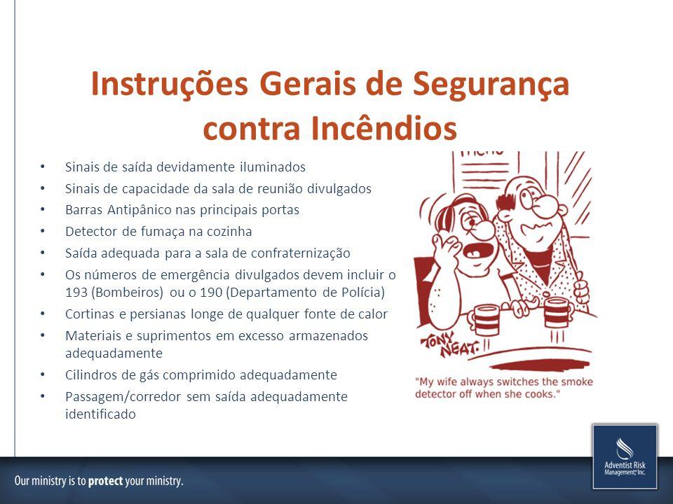 Instruções Gerais de Segurança contra Incêndios