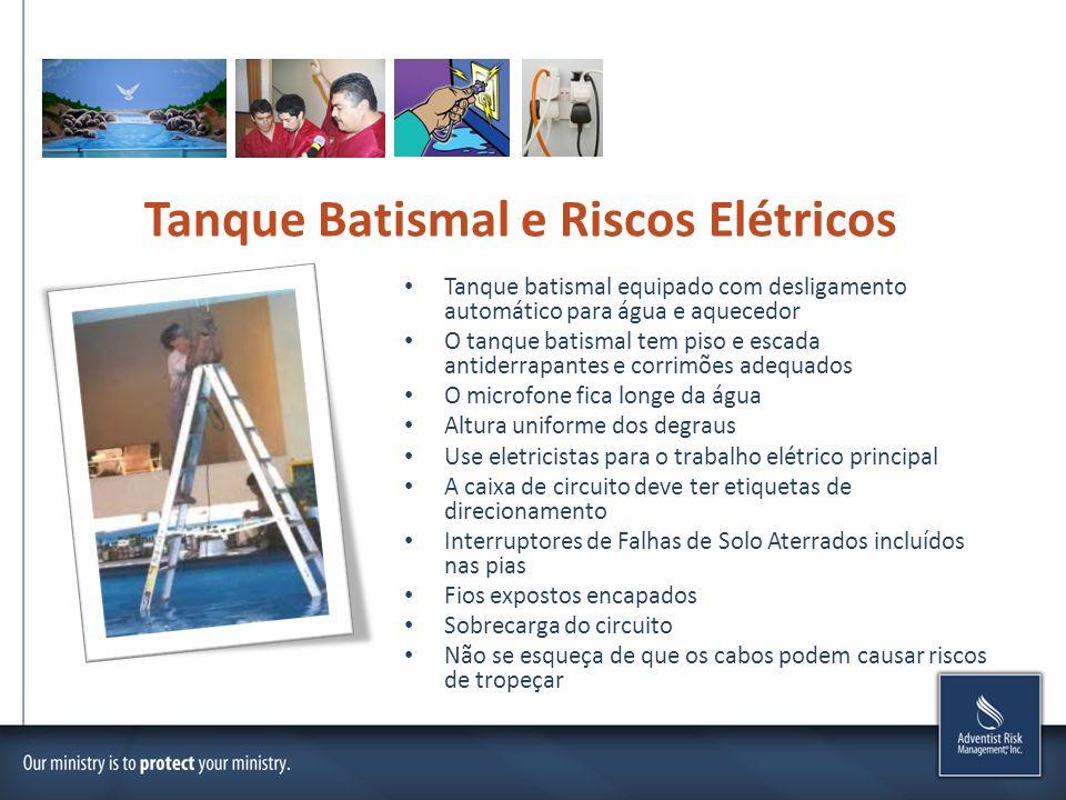 Tanque Batismal e Riscos Elétricos