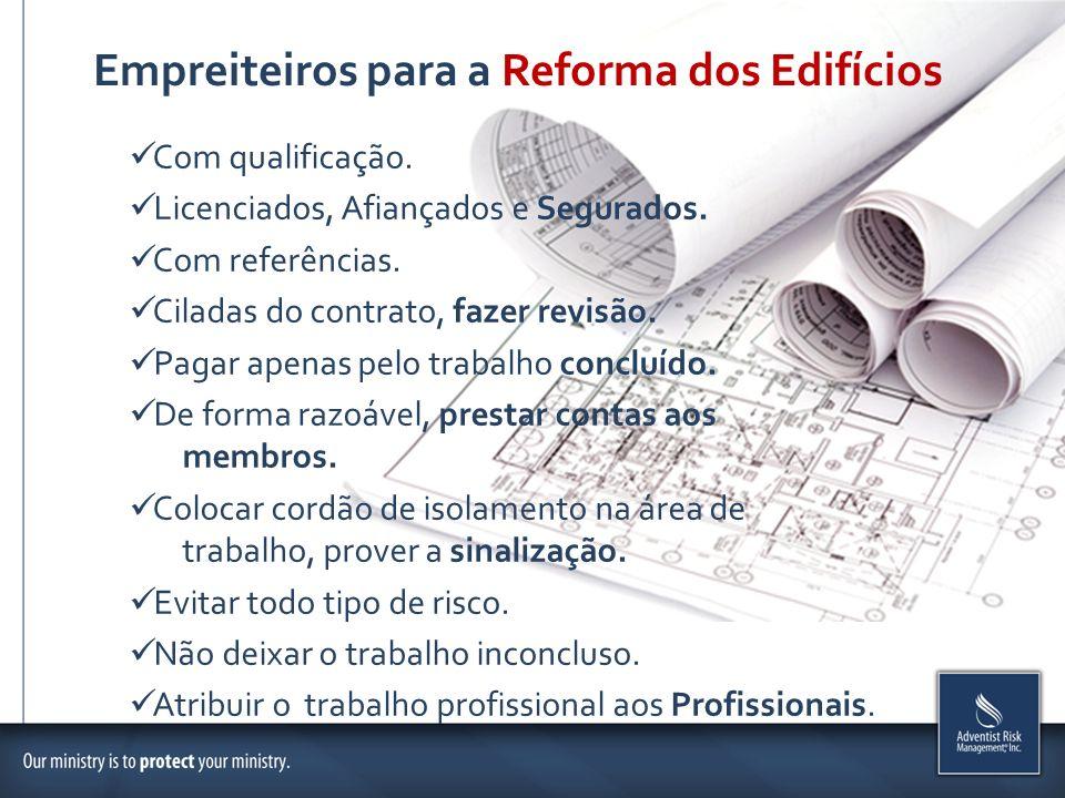 Empreiteiros para a Reforma dos Edifícios