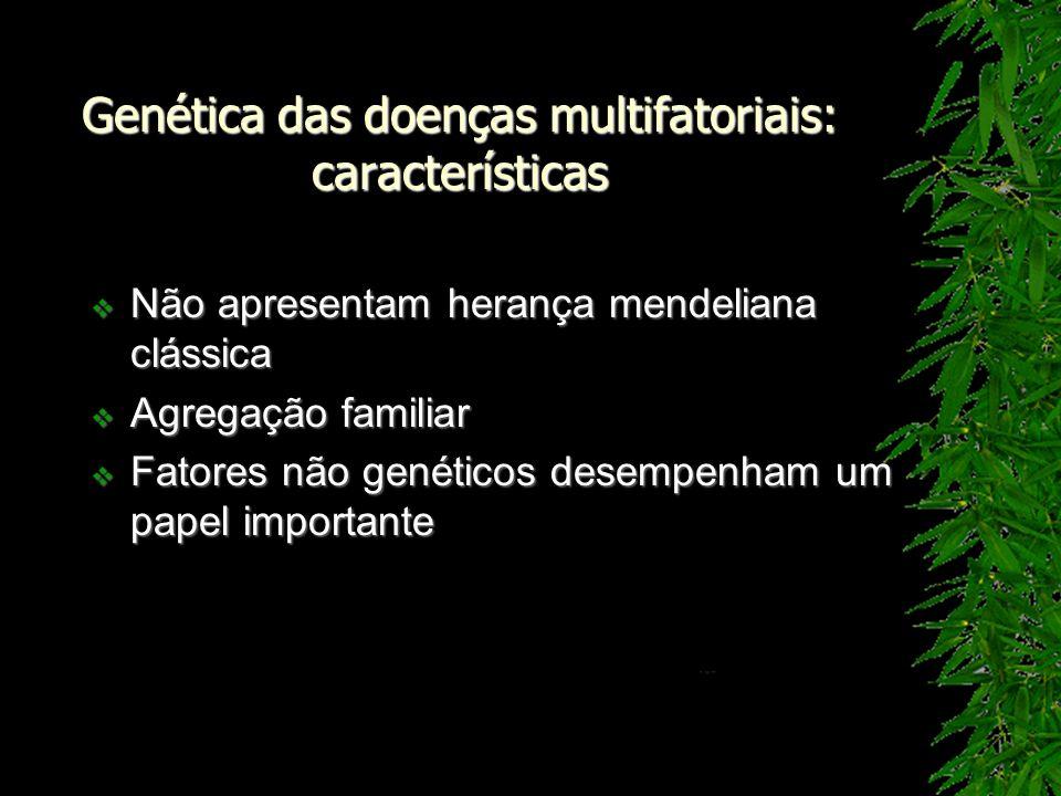 Genética das doenças multifatoriais: características