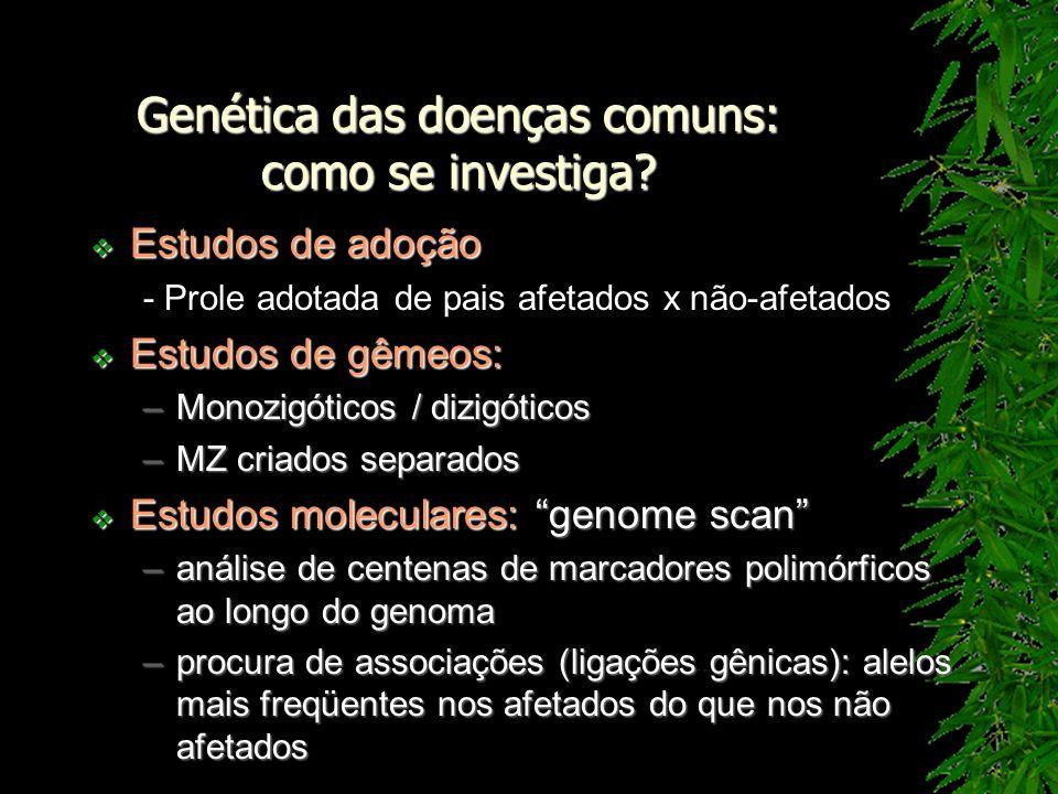 Genética das doenças comuns: como se investiga