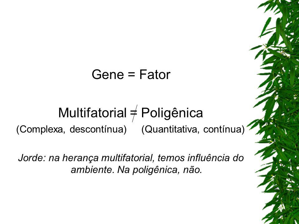Multifatorial = Poligênica