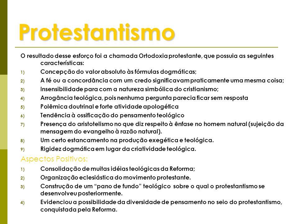 Protestantismo Aspectos Positivos: