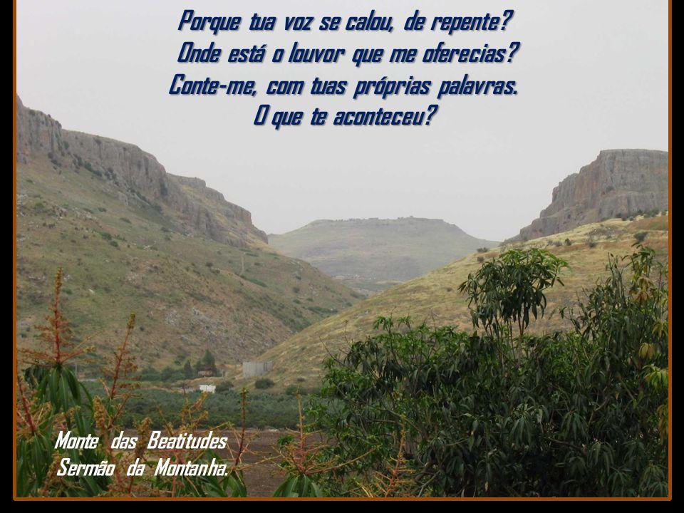 Monte das Beatitudes Sermão da Montanha.
