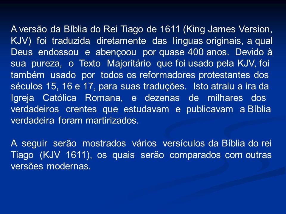 A versão da Bíblia do Rei Tiago de 1611 (King James Version,