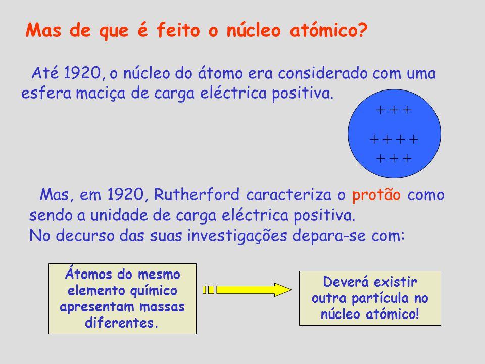 Mas de que é feito o núcleo atómico