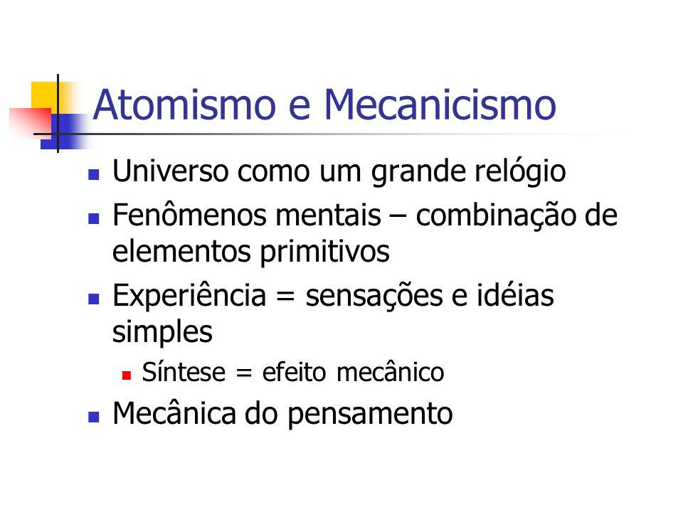 Atomismo e Mecanicismo