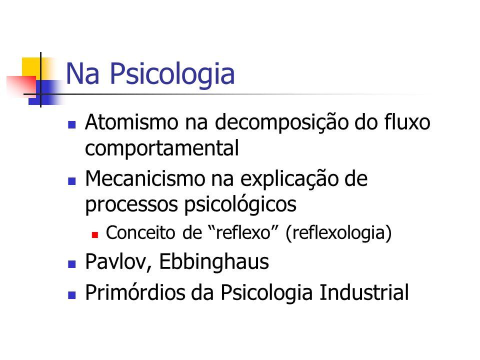 Na Psicologia Atomismo na decomposição do fluxo comportamental