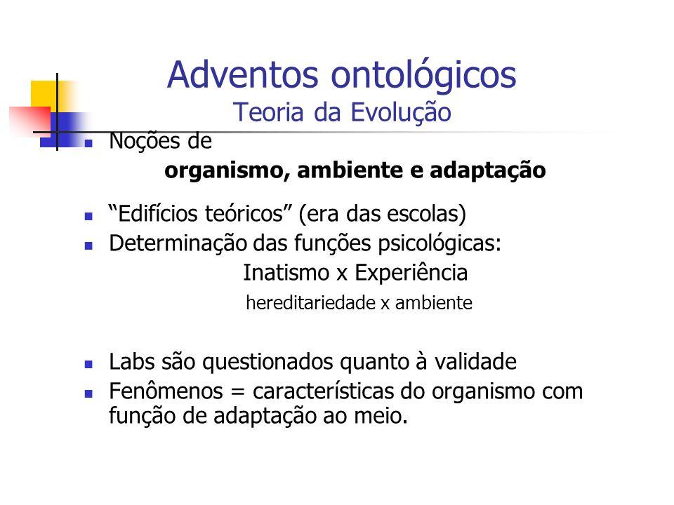Adventos ontológicos Teoria da Evolução