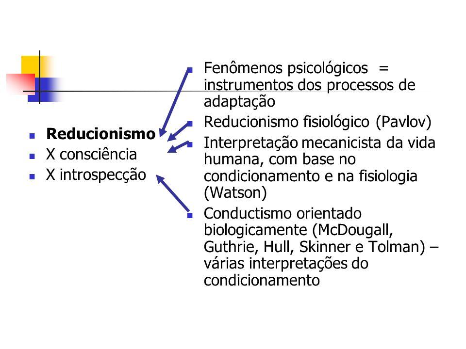 Fenômenos psicológicos = instrumentos dos processos de adaptação