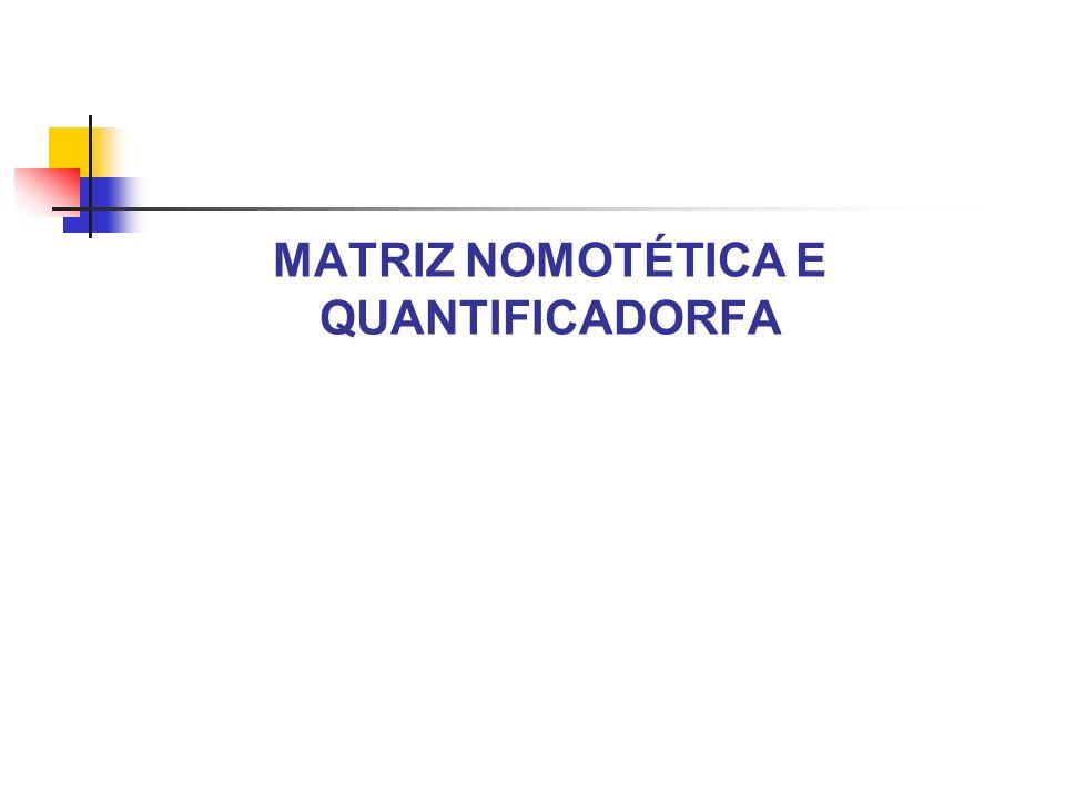 MATRIZ NOMOTÉTICA E QUANTIFICADORFA