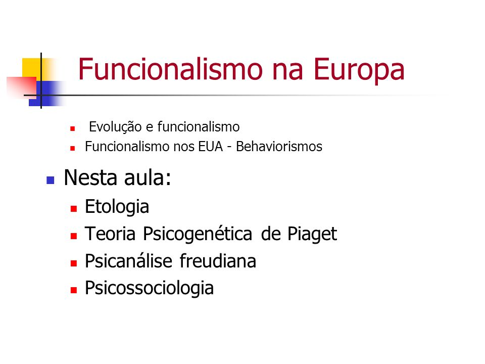 Funcionalismo na Europa