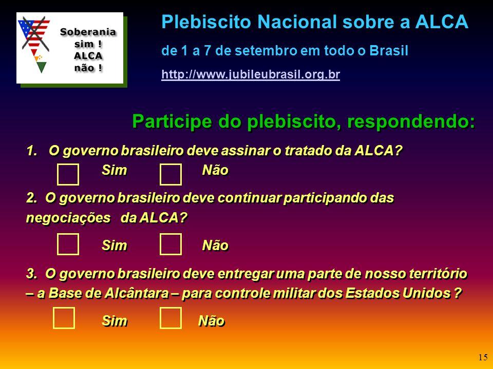 Participe do plebiscito, respondendo: