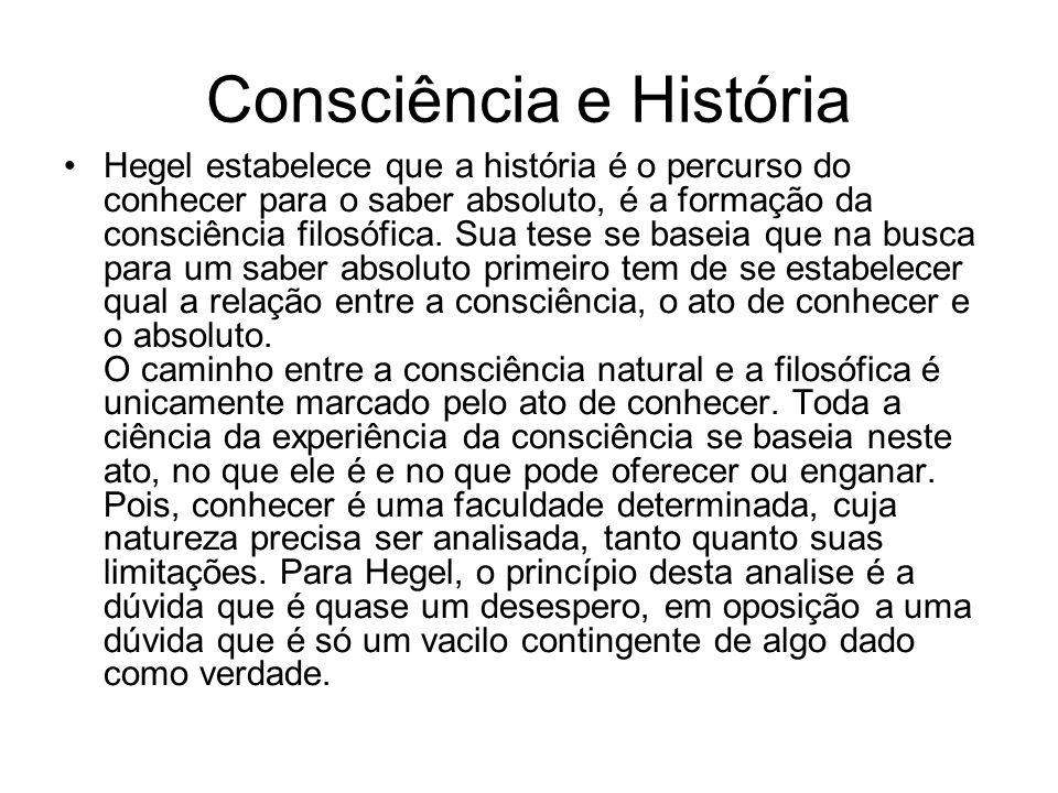 Consciência e História