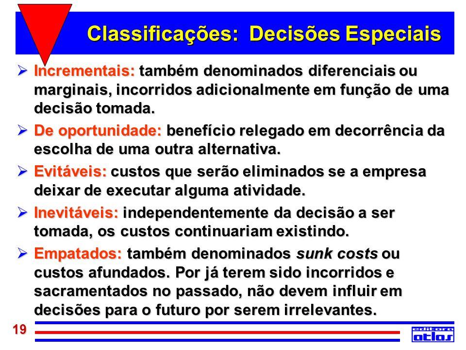 Classificações: Decisões Especiais