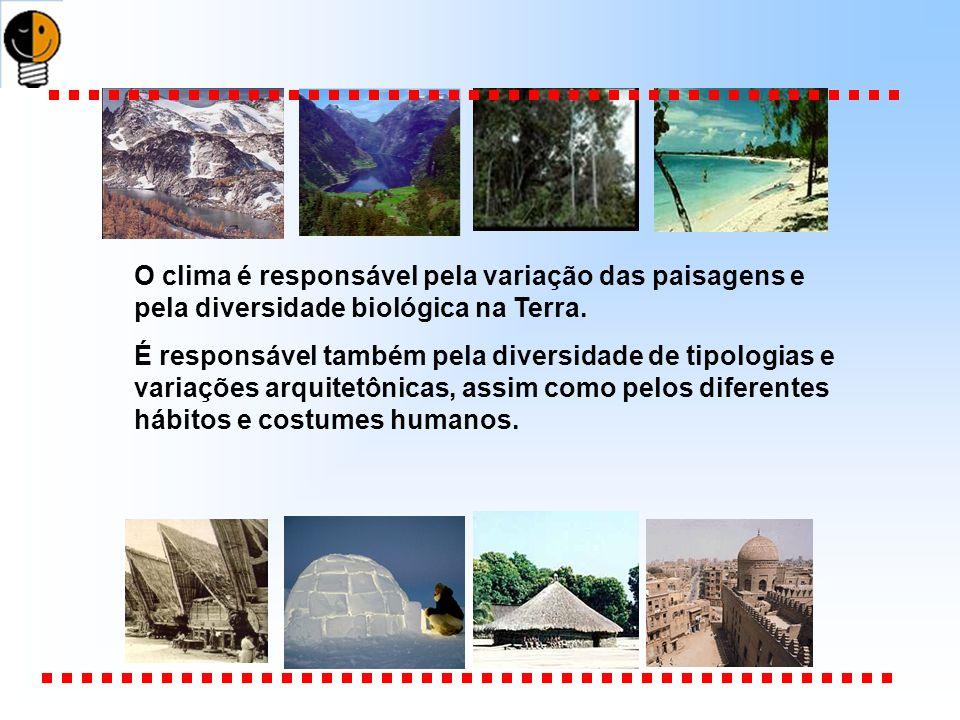 O clima é responsável pela variação das paisagens e pela diversidade biológica na Terra.